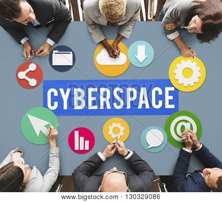 Cyberspace Online Technology Internet Concept