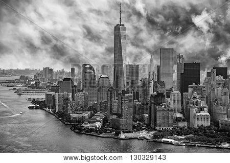 New York Manhattan Aerial View