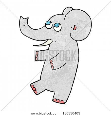 freehand textured cartoon cute elephant