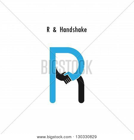 Creative R- letter icon abstract logo design vector template.Business offerpartnership icon.Corporate business and industrial logotype symbol.Vector illustration