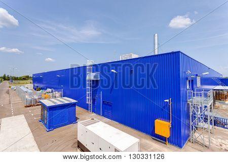 Supermarket Blue Exterior
