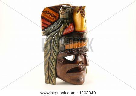 Isolated Indian Mask
