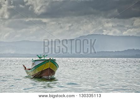 A Boat Near Indonesian Fishermen Village