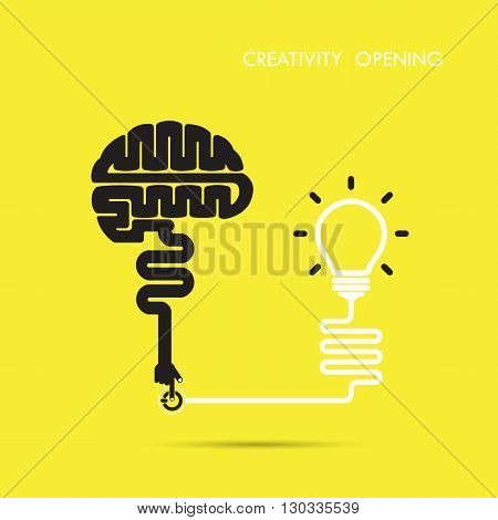 Creativity brain opening concept.Creative brain abstract vector logo design template. Corporate business industrial creative logotype symbol.Vector illustration