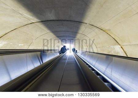 Washington Dc Metro Escalator