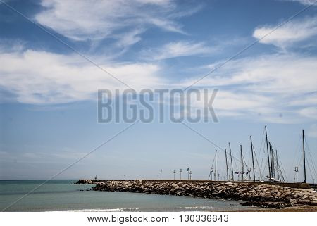 A view of the Marina di Ragusa Port Sicily