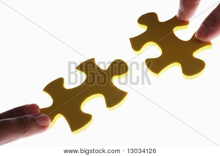 Connecting Two Piece Of Jigzaw Puzzle
