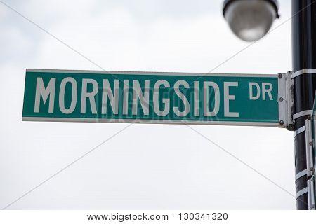 New York Street Sign: Morningside Dr
