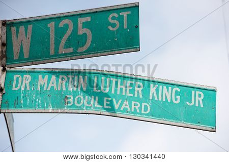 New York Street Sign: Martin Luther King