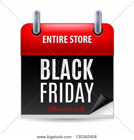 Black Friday discounts increasing consumer growth. Calendar icon