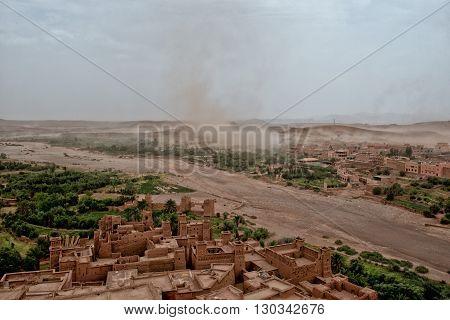 Sand Storm Coming To Ait Benhaddou Maroc