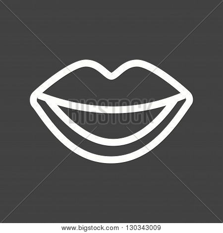 Mouth, open, teeth icon vector image. Can also be used for human anatomy. Suitable for mobile apps, web apps and print media.