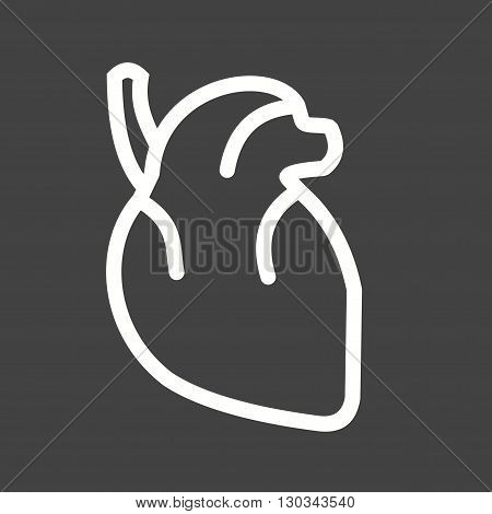 Heart, human, blood icon vector image. Can also be used for human anatomy. Suitable for mobile apps, web apps and print media.