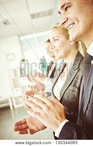 Congratulating with success
