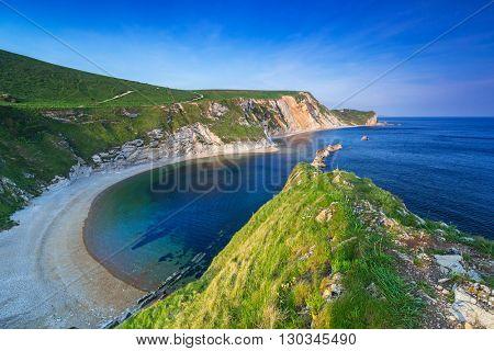 Beautiful beach on the Jurassic Coast of Dorset, UK