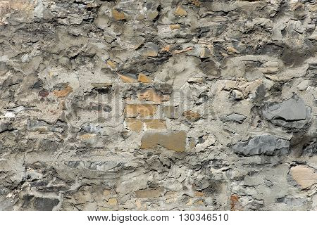 Old Stone Scraped Wall