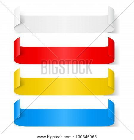 Set of colorfull paper sticker isolated on a background