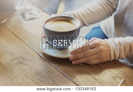 Welcome Hospitality Guest Treat Serve Concept
