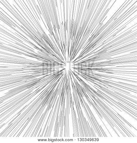 Engraving star background. Monochrome star burst. Stock vector. Vector illustration.