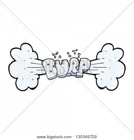 freehand textured cartoon burp symbol