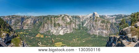 Yosemite Valley Park Half Dome Lanscape