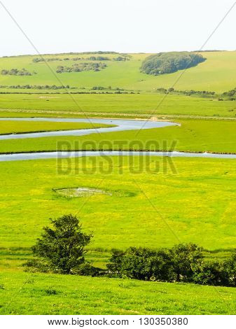 Seven Sisters National Park, Cuckmere river Valley, East Sussex, England