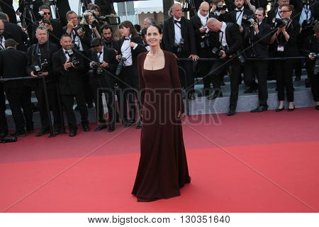 Sonia Braga attends a screening of 'Julieta' at the annual 69th Cannes Film Festival at Palais des Festivals on May 17, 2016 in Cannes, France.