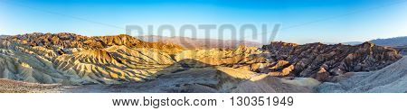 Death Valley Zabriskie Point Sunset Landscape