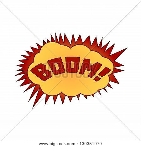 vector illustration. The word boom in a cloud of explosion.