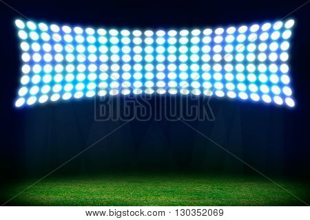 On stadium. Abstract football or soccer background. Copy space for your text or product