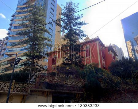 Downtown Beirut, Lebanon. Beirut, Lebanon - January 09, 2016: The landmark central district renovated in the late '90s and now a major tourist attraction