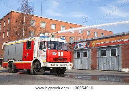 Amaz Truck 43253 As A Russian Fire Engine