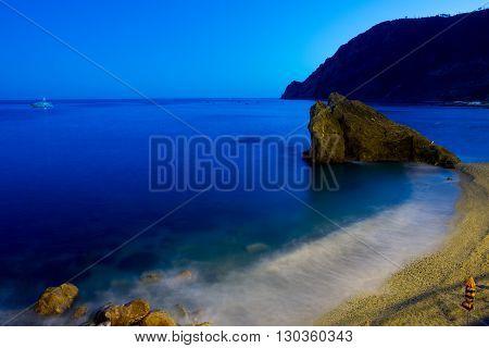 Beach Of Cinque Terre Night View