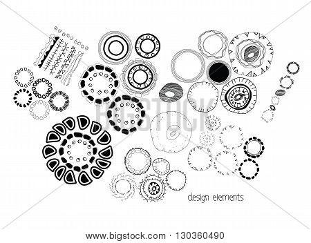 Set Of Ethnographic Design Elements Doodle