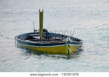 Abandoned Submerged Woooden Boat