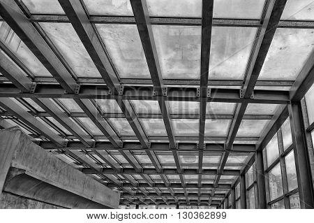 iron metallic building framework detail detail detail
