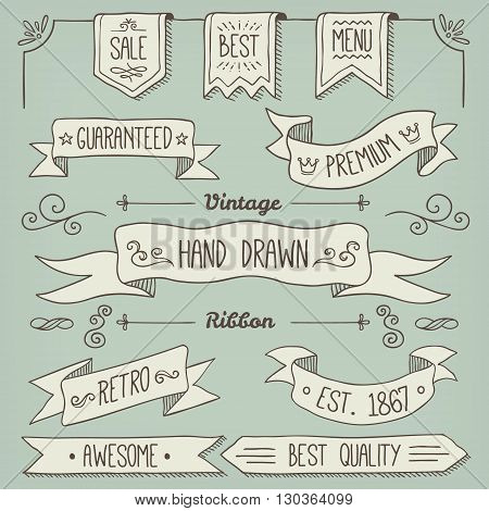 Hand Drawn Scroll Elements and Page Decoration