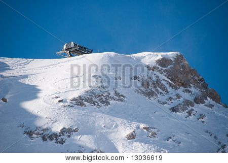 Sk Lift In The Zugspitze, Germany