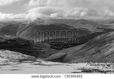 Beinn Talaidh from summit of Dun da Ghaoithe on the Isle of Mull