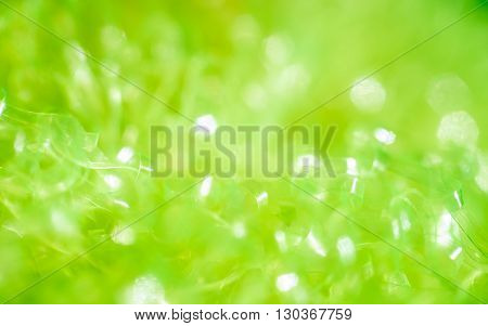 Green Abstract Background With Bokeh Hexagonal Shape