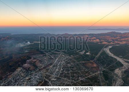 Baja California Sur Mexico Aerial View