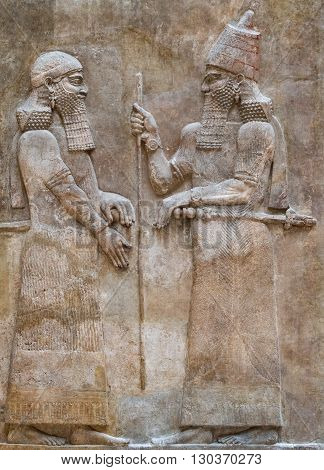 Ancient Babylonia And Assyria Bas Relief