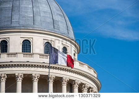 Paris Pantheon Capitol With French Flag
