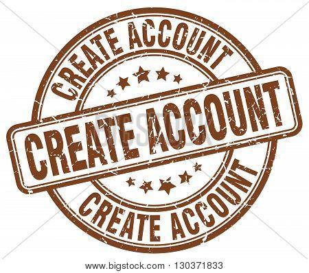 create account brown grunge round vintage rubber stamp