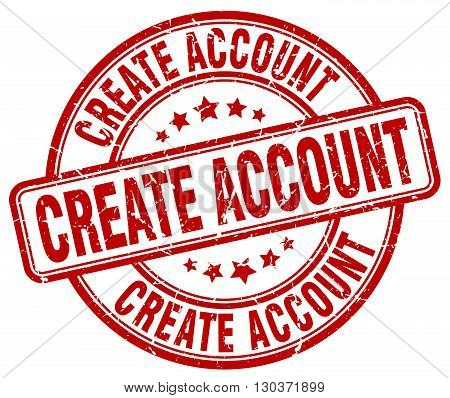 create account red grunge round vintage rubber stamp