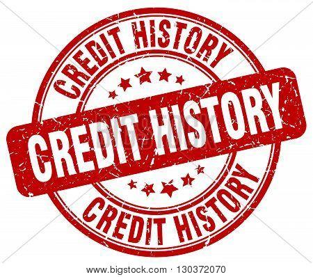 credit history red grunge round vintage rubber stamp