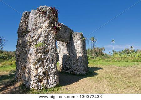 Tonga Polynesia paradise old coral dolmen view