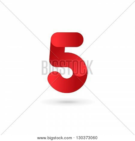 Number 5 Logo Icon Design Template Elements
