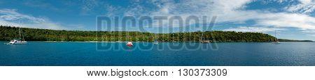 Polynesia Paradise Crystal Water White Sandy Beach