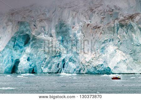Svalbard Spitzbergen Island Glacier View